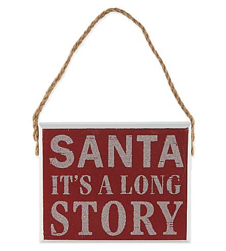 GISELA GRAHAM Santa It's a Long Story plaque £5.95 click to visit Selfridges