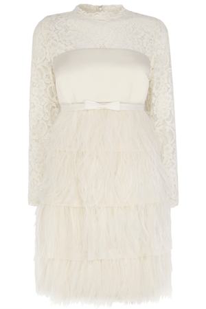 CHERISH FEATHER DRESS £250.00 click to visit Coast