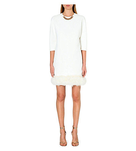 VICTORIA BECKHAM Feather-hem crepe dress £2,100 click to visit Selfridges