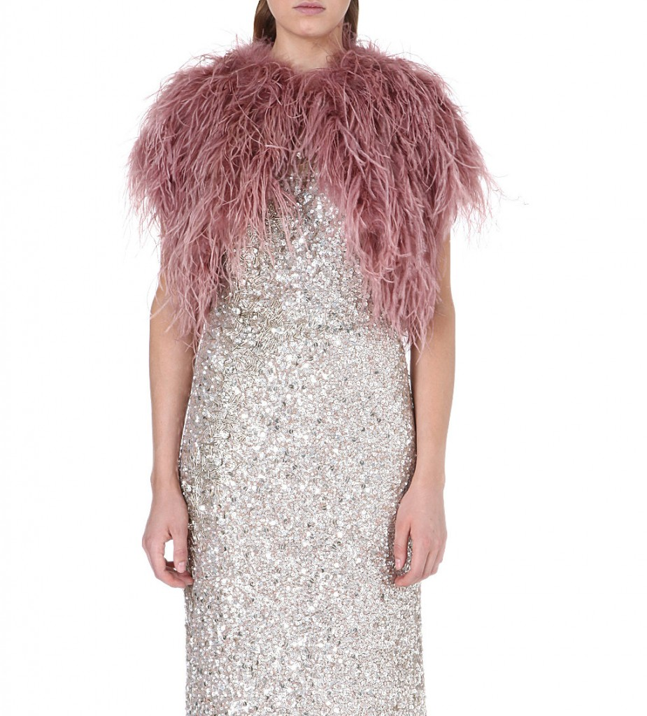 JENNY PACKHAM Feather shrug £755 click to visit Selfridges