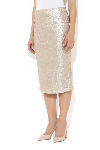 Nude Sequin Pencil Skirt Was £50.00 Now £40.00 click to visit Wallis