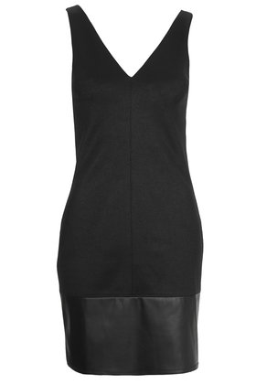 PU Hem Bodycon Dress     Price: £42.00 click to visit Topshop