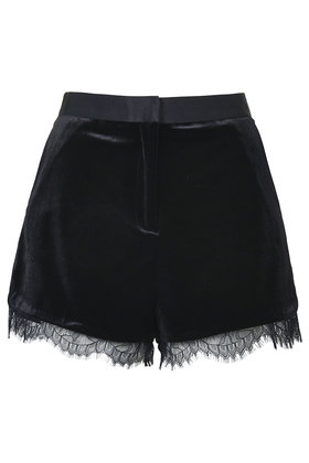 Velvet Lace Shorts     Price: £36.00 click to visit Topshop