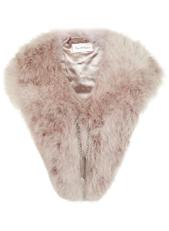 Purple Feather Chain Cape     Price: £55.00 click to visit Miss Selfridge
