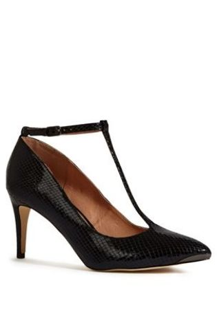 Snake Effect T-Bar Point Shoes £34 click to visit Next