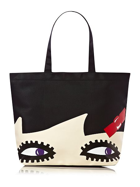 Lulu Guinness Doll face Luisa tote £60 click to visit House of Fraser