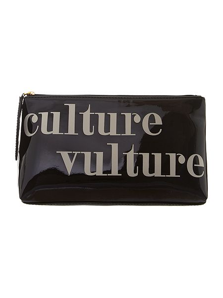 Lulu Guinness Black cosmetic bag now £32.50 click to visit House of Fraser