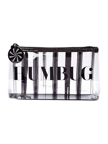 Lulu Guinness Black humbug cosmetic case now £32.50 click to visit House of Fraser