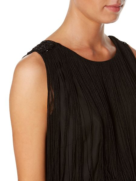 Biba Fringed beaded shoulder dress £149 click to visit House of Fraser