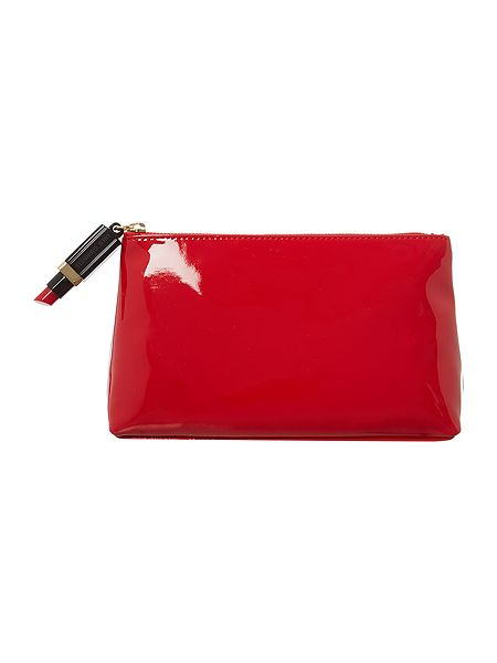 Lulu Guinness Red medium patent cosmetic bag £65 click to visit House of Fraser