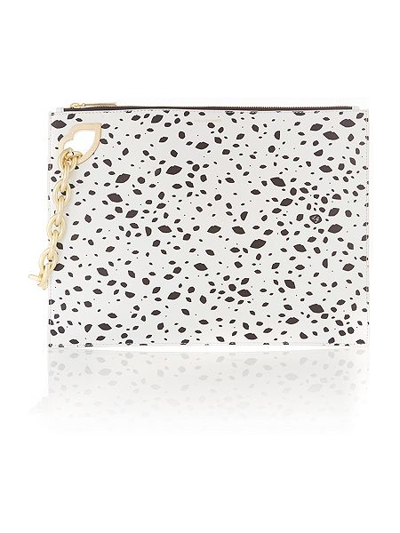 Lulu Guinness Hug & hold multi-coloured spot large clutch bag  £245 click to visit House of Fraser