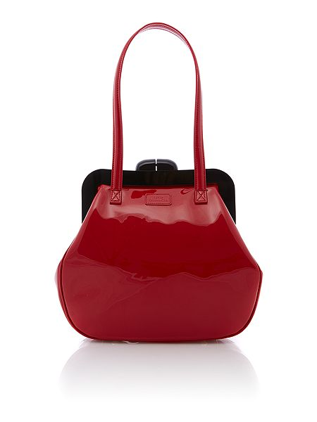 Lulu Guinness Pollyanna red medium patent tote bag £325 click to visit House of Fraser
