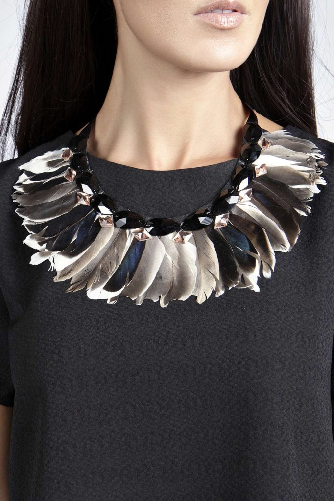 Lana Feather Collar Necklace £10.00 click to visit Boohoo