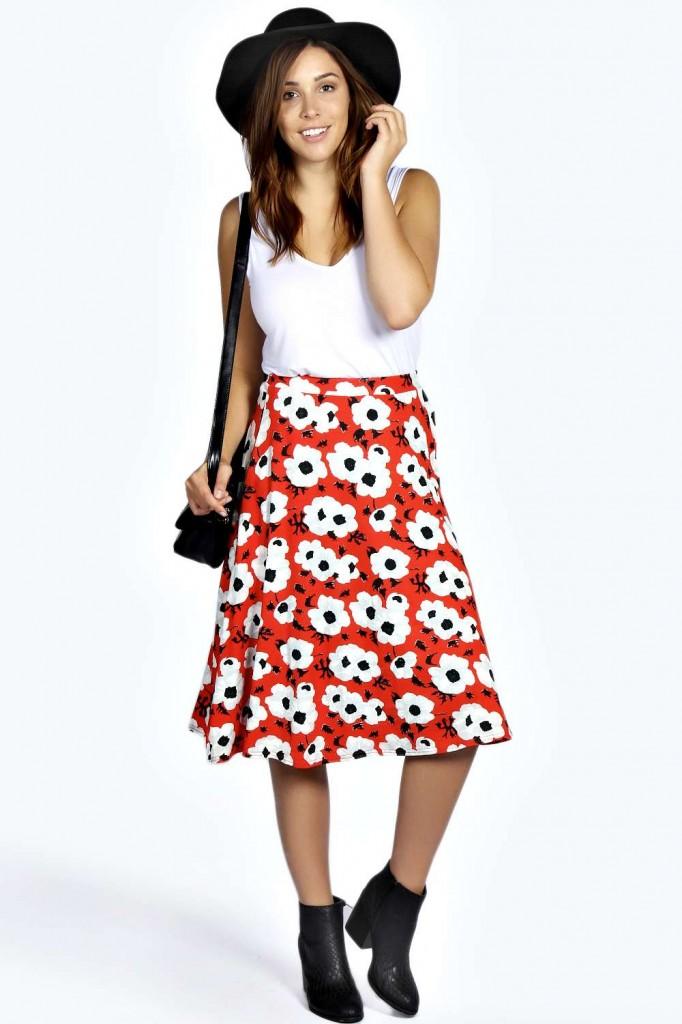 Lee Printed Full Circle Skirt £16 click to visit Boohoo