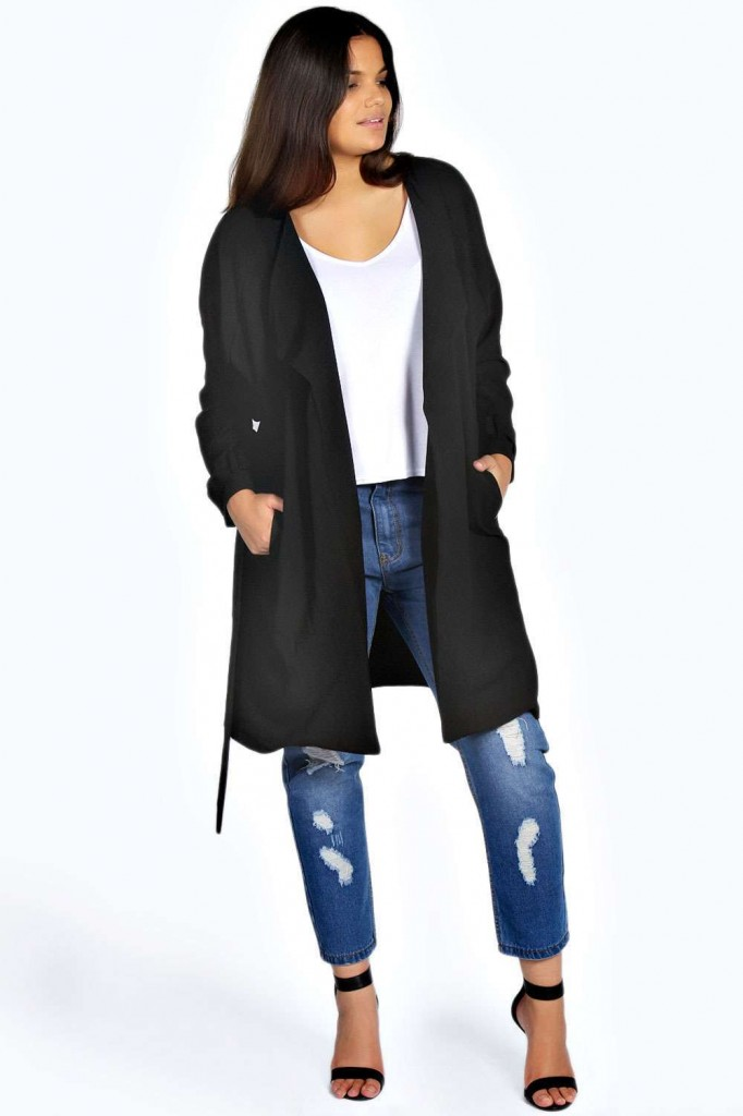 Gwen Wrap Front Trench Coat £40 click to visit Boohoo