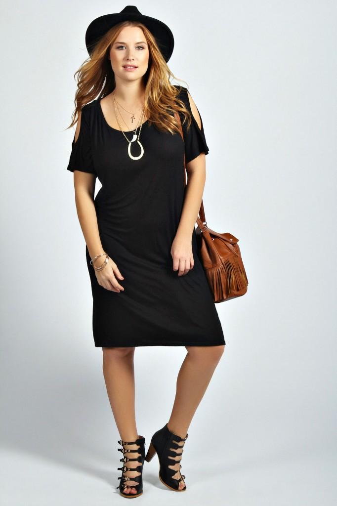 Jenna Cold Shoulder Oversized Dress £15 click to visit Boohoo