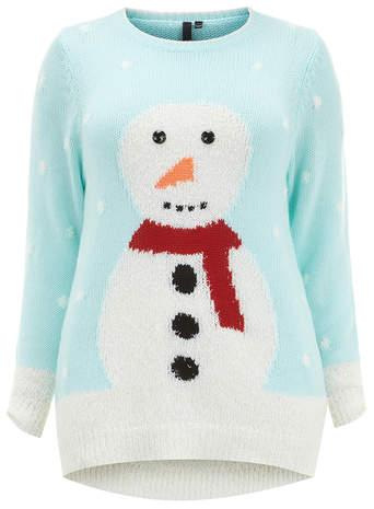 Evans Mint Snowman Jumper     Price: £35.00 click to visit Evans