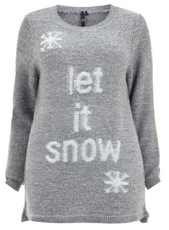 Evans Grey Let It Snow Motif Top     Price: £32.00 click to visit Evans