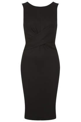Ponte Twist Bodycon Dress     Was £42.00     Now £20.00 click to visit Topshop