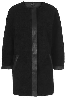 Faux Shearling Ovoid Jacket     Was £78.00     Now £50.00 click to visit Topshop