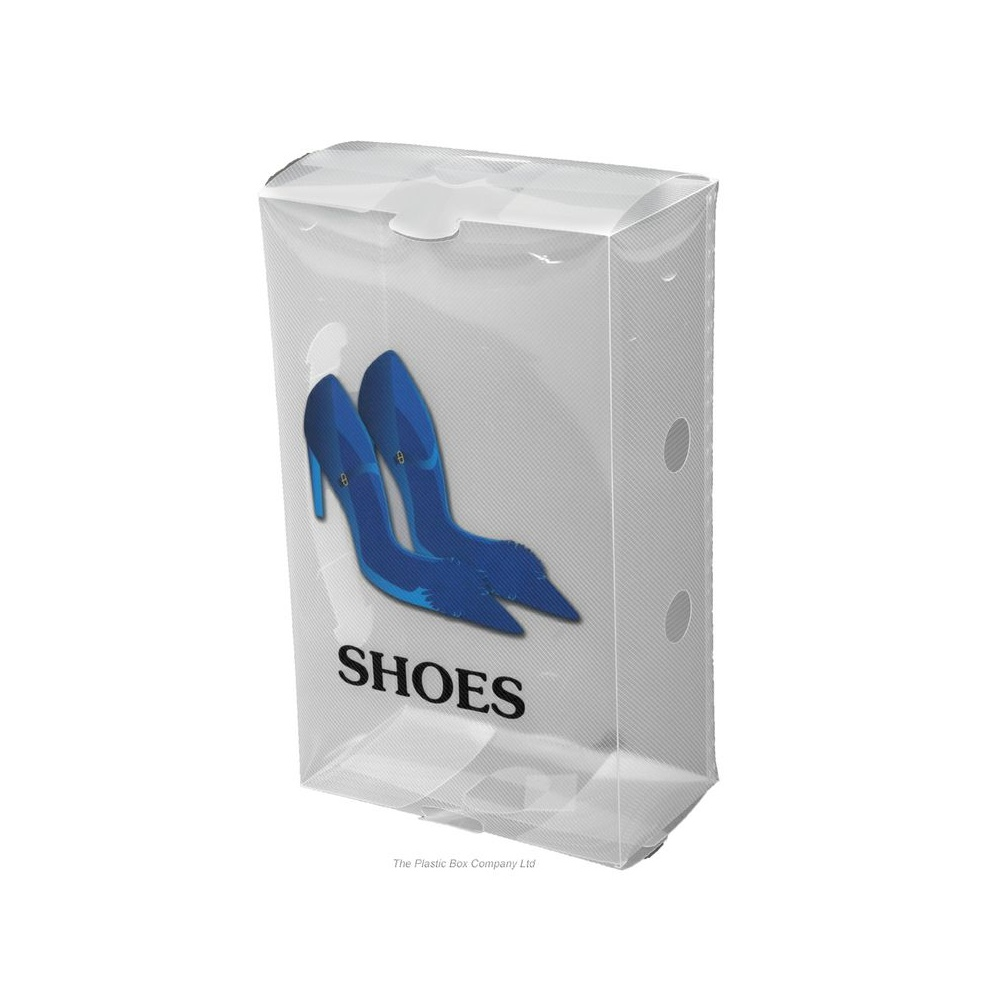 Plastic Shoe Storage Box for Ladies Shoes code:KMLS Now £0.70 (ex. VAT) click to visit Plastic Box Company