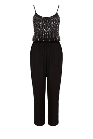 NICOLE EMBELLISHED JUMPSUIT WITH PROMO £94.50 click to visit Coast