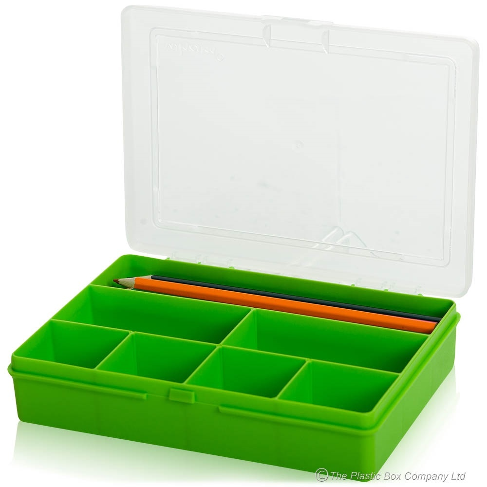 19cm (2.01) Wham Hobby Craft Bits and Bobs 7 Compartment Organiser Plastic Box code:WM19ORG £1.65 (ex. VAT) click to visit The Plastic Box Company