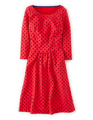 Flocked Spot Ponte Dress WH734 (Was £99.00 ) now £74.25 click to visit Boden