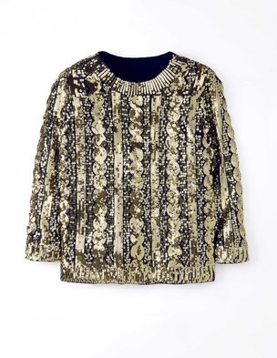 Sequin Cable Jumper WV014 (Was £279.00 ) now £209.25 click to visit Boden