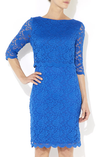 Blue Over Layer Lace Dress     Price: £50.00 click to visit Wallis