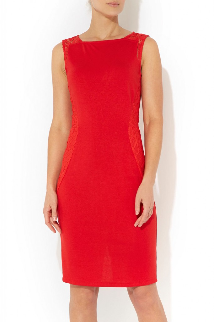 Red Lace Insert Dress     Was £45.00     Now £19.00 click to visit Wallis