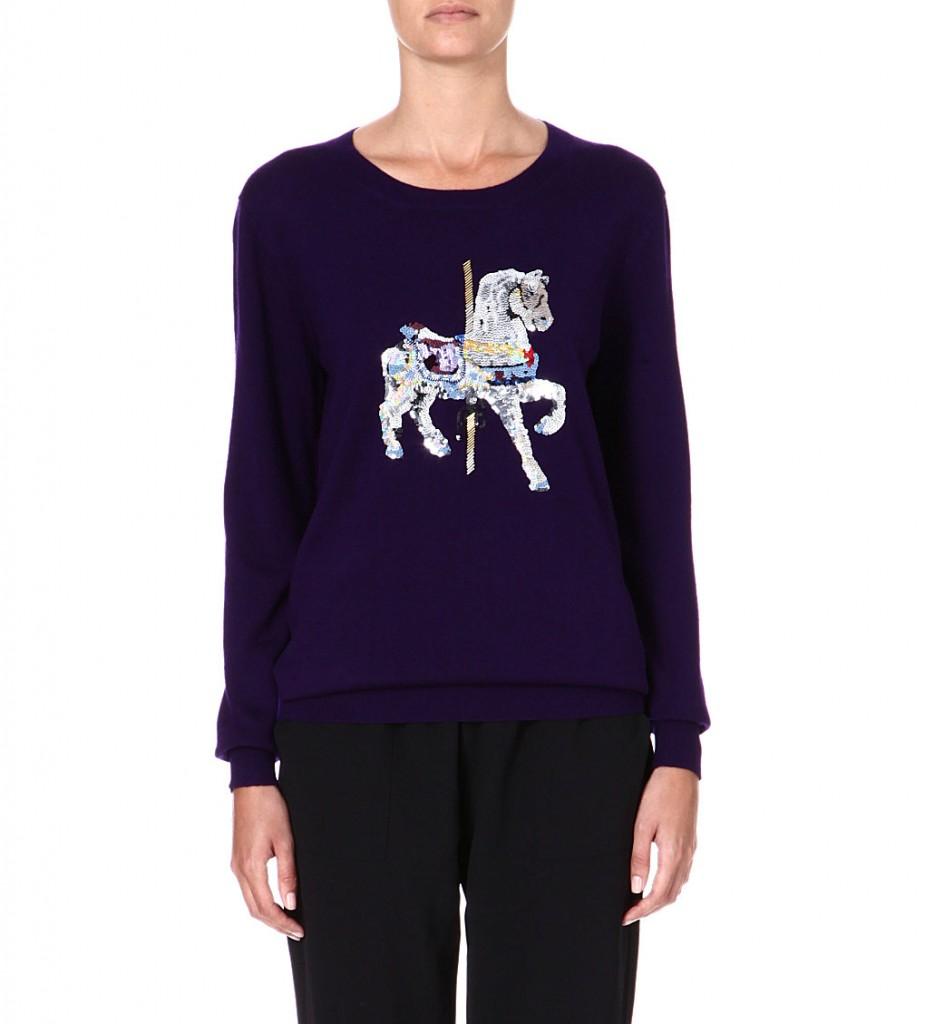 MARKUS LUPFER Carousel Horse embellished wool jumper £295 click to visit Selfridges