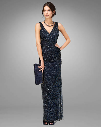 Priscilla Sequin Full Length Dress £295.00 click to visit Phase Eight