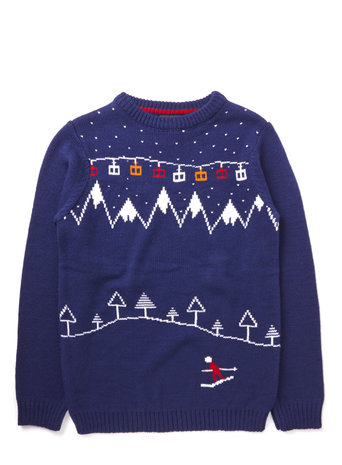 Boys Navy Ski Christmas Jumper     Price: from £14.00 click to visit BHS