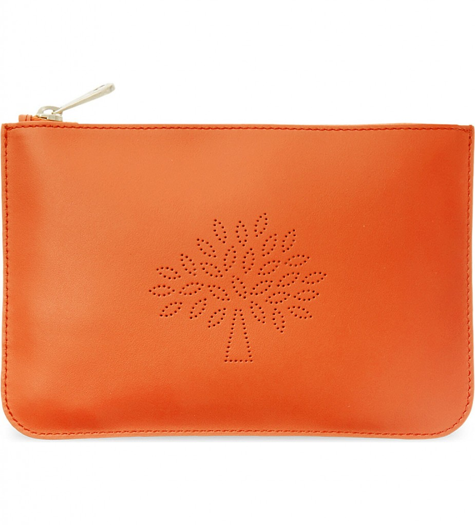 MULBERRY Blossom Mulberry nappa leather small pouch £125 click to visit Selfridges