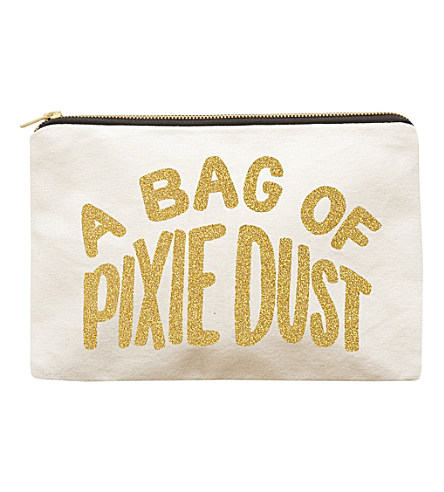 ALPHABET BAGS Pixie Dust canvas pouch £20 click to visit Selfridges
