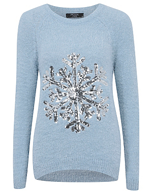 Moda Sequin Snowflake Eyelash Jumper £16.00 click to visit Asda George