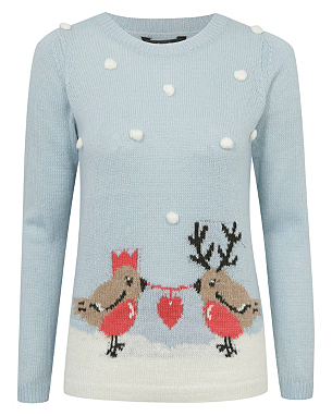 Bobble Robin Christmas Jumper £14.00 click to visit Asda George