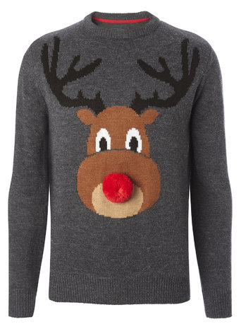 3D Rudolph Christmas Jumper     Price: £20.00 click to visit BHS