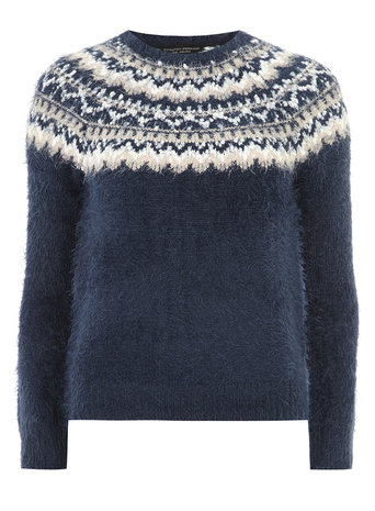 Fluffy Fairisle Print Jumper     Price: £28.00 click to visit Dorothy Perkins