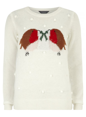 Tall Snowball Robin Jumper     Price: £26.00 click to visit Dorothy Perkins