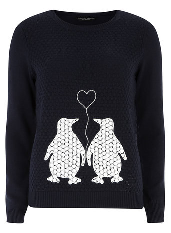 Embroidered Penguin Jumper     Price: £28.00 click to visit Dorothy Perkins
