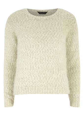 Ivory Tinsel Jumper     Price: £26.00 click to visit Dorothy Perkins