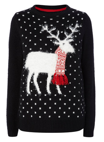 Christmas Stag Jumper     Price: £25.00 click to visit BHS