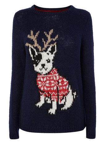 Navy Christmas Dog Jumper     Price: £25.00 click to visit BHS