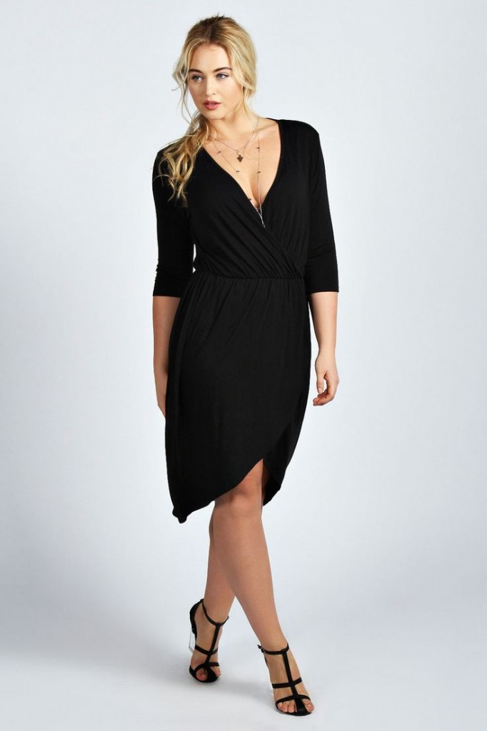 Katie Wrap Front Dress £20 click to visit Boohoo