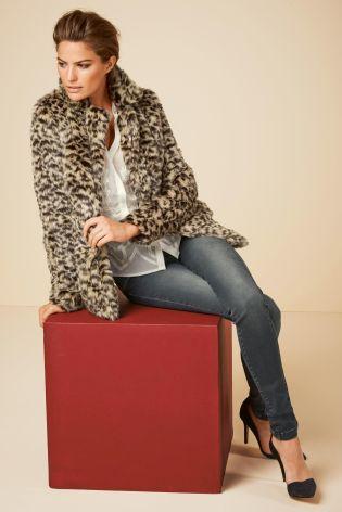 Leopard Faux Fur Jacket £70 click to visit Next