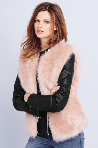 Pink Faux Fur Gillet £42 click to visit Next