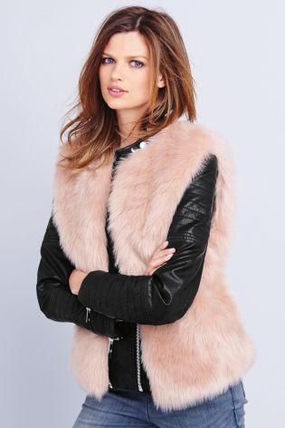 Pink Faux Fur Gillet £42 click to visit Next