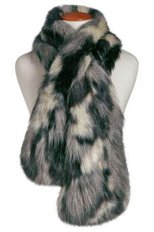 Grey Faux Fur Patch Scarf £25 click to visit Next